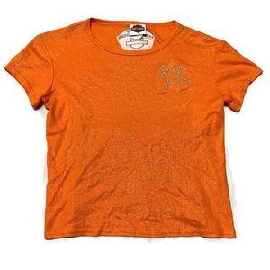 Harley Davidson Women's Logo Backless Tee Shirt